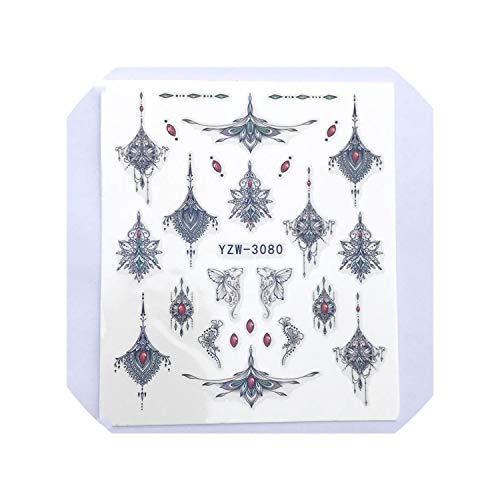 (Lucky-Fairy 1 Pc Black Necklace Jewelry Design for Nail Art Watermark Tattoo Decorations Nail Sticker Water Transfer Decals Decoration,Ezu-3080)