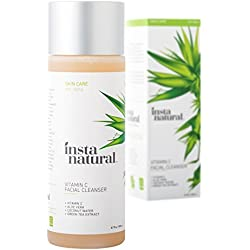 InstaNatural Vitamin C Facial Cleanser - Anti Aging, Breakout & Wrinkle Reducing Face Wash for Clear & Reduced Pores - With Organic & Natural Ingredients - For Oily, Dry & Sensitive Skin - 6.7 OZ