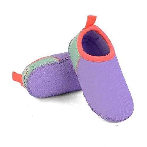 The ORIGINAL MINNOW DESIGNS Soft Sole Aqua Water Swim Shoes - Perfect Swimmable Socks for the beach, boat & water play (7, (Play Swim Socks)