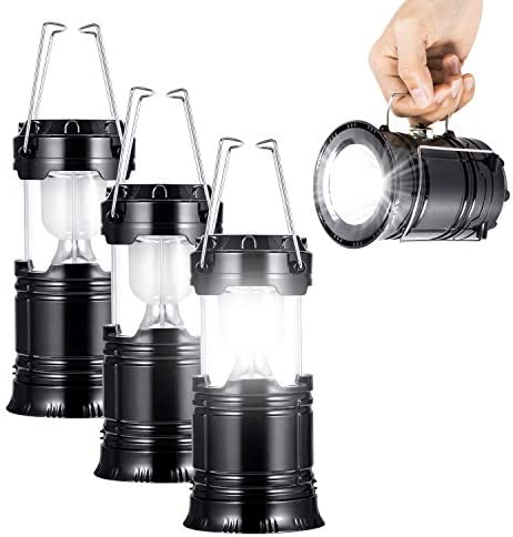 LED Camping Lantern with Flashlight,The Original Best Lantern Flashlight Combo,Great Light for Camping, Car, Shop, Attic, Garage etc. 3 PACK
