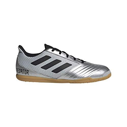 adidas Men's Predator 19.4 in SALA Soccer Shoe, Silver Metallic/Black/hi-res red, 9 M US