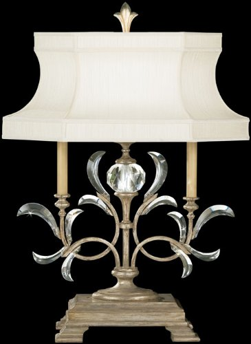 Fine Art Lamps 737910, Beveled Arcs Crystal Chandelier Table Lamp, 1 Light, 60 Total Watts, Silver ()