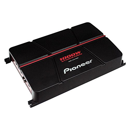 Pioneer GM-A5702 2-Channel Bridgeable Amplifier with Bass Boost,Black/red