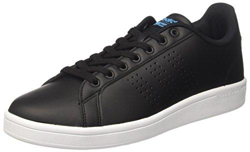 adidas Herren Cloudfoam Advantage Sneaker, Ftwwht/Ftwwht/Cburgu Schwarz (Negbas/Negbas/Azusol)