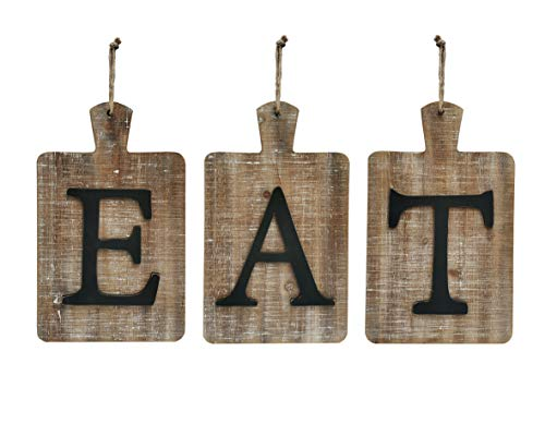 NITYNP EAT Sign Different Letter, Rustic Farmhouse Country Decorative Wall Sign, for Kitchen and Home décor, 24 x 13.4 inches (Decor Eat Wall)
