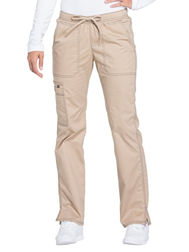 Dickies Tie (Dickies Gen Flex by Women's Low Rise Straight Leg Scrub Pant Medium Tall Dark Khaki)