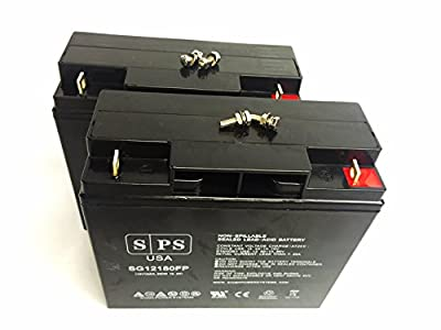 Replacement Battery DSR PSJ4424 Pro Series 12&24V Jump Starter 12V 18Ah Battery -(SPS Brand) - Pack of 2