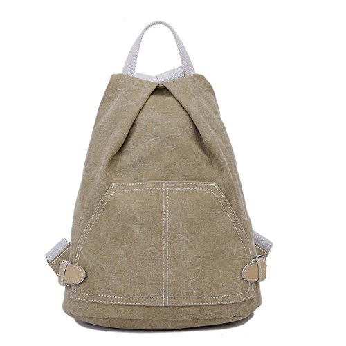 FTSUCQ Womens Canvas Preppy Style Backpack Travel Daypack Handbags School Bags Shoulder Satchels