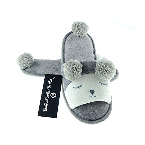 Bunny 8 Slippers Size Womens Fleece Sheep T Animal Gray 5 TOKYO Cozy Plush taSYqw0t