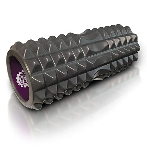 Planet Fitness Muscle Massager Foam Roller for Deep Tissue Massage, Back, Trigger Point Therapy, Grey 13