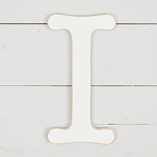 UNFINISHEDWOODCO 11.5'' Typewriter Wall Decor Letter I- White