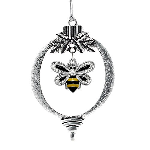 Inspired Silver 1.0 Carat Bumble Bee Holiday Christmas Tree Ornament, great bee ornaments for christmas