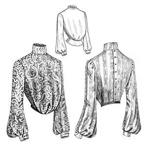 Victorian Blouses, Tops, Shirts, Vests 1903 Edwardian Era Plain Blouse Pattern                               $12.70 AT vintagedancer.com
