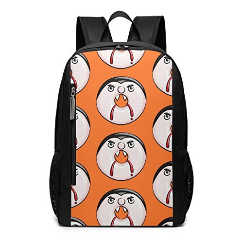 Vampire Donuts Halloween Teeth Laptop Backpack For Man Women Girl Boy Kids Fit 17 Inch College Student Bookbag Business Travel Computer Bag Durable Large Daypack Lightweight -
