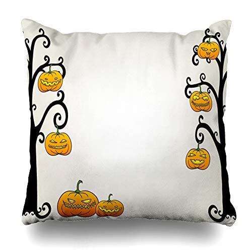 LALILO Throw Pillow Covers, Traditional Halloween Creepy Pumpkin