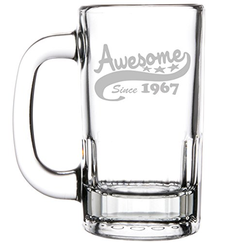 glass 50th birthday beer mug - 8