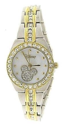 4273767a28 Neuf Montre Disney Mickey Mouse pour Femme Mk2042 Serpillère Cadran  Bicolore Strass Bracelet de Montre