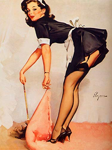onepicebest 8x12 Inches Metal Vintage Retro Pin Up Gil Elvgren Tin Sign Wall Plaque, Fridge Magnet