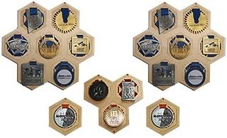 HXW médaille Cintre/Affichage médaille/Porte-médaille/Cadeau Parfait/Cadeau pour/Sports Set 7 Hexawall