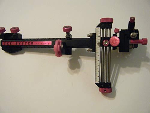 Davis 5 Archery Sight Black/Pink Knobs