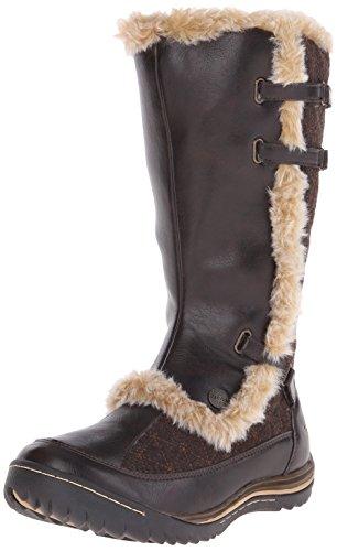 Jambu Women's Artic-Vegan Snow Boot, Dark Brown, 7.5 M US