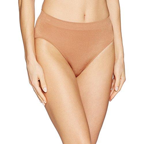 Wacoal Women's B-Smooth Hi-Cut Brief Panty, Pecan, L