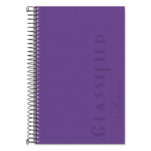 Classified Colors Notebook, Narrow Rule, 5-1/2 x 8-1/2, Orchid, 100 Sheets, Sold as 1 Each