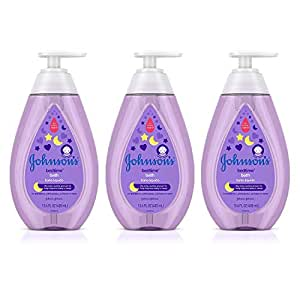 Johnson's Tear-Free Bedtime Baby Bath with Soothing NaturalCalm Aromas, 13.6 fl. Oz (Pack of 3)