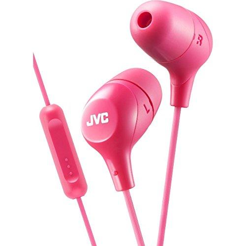 JVC Memory Foam Earbud Marshmallow Memory Foam Earbud with Mic Pink (HAFX38MP)