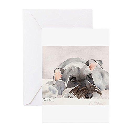 (CafePress Miniature Schnauzer 2 Greeting Cards Greeting Card, Note Card, Birthday Card, Blank Inside Matte)
