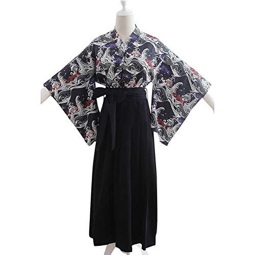 Samurai Hakama Costumes - Womens Girls Hakama Kimono Set Japanese