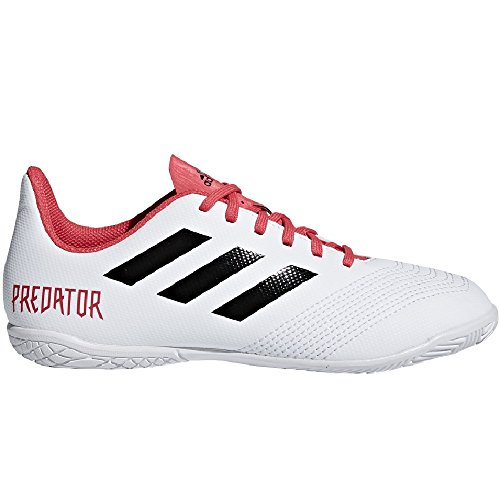 adidas Unisex-Kinder Predator Tango 18.4 in J Gymnastikschuhe, Schwarz/Weiß/Rot Mehrfarbig (Ftwr White/core Black/real Coral S18)