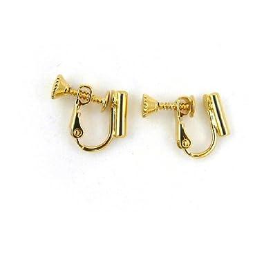 Screw On Barrel Pierced To Clip Earring Converter Gold Amazon Co Uk