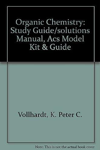 organic chemistry study guide solutions manual acs model kit rh amazon com