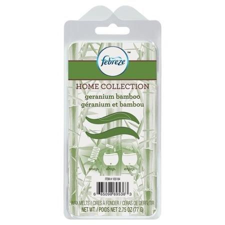 Febreze Home Collection Wax Melts Geranium Bamboo, 2.75 oz (Febreze Home Collection)