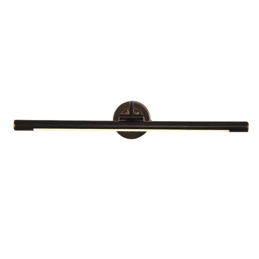Shangxiangtrade LED SMD銅ヘッドアメリカの浴室の浴室用キャビネットontinental高級ウォールランプ浴室付属品 (Color : Black Copper, サイズ : Medium) Medium Black Copper B07R9XWQC7