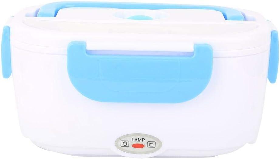 Fiambrera portátil, Fiambrera Electrica, caja bento con calefacción eléctrica, contenedores de almacenamiento de alimentos a prueba de fugas para viajes de oficina (100-240 V)(Azul claro)