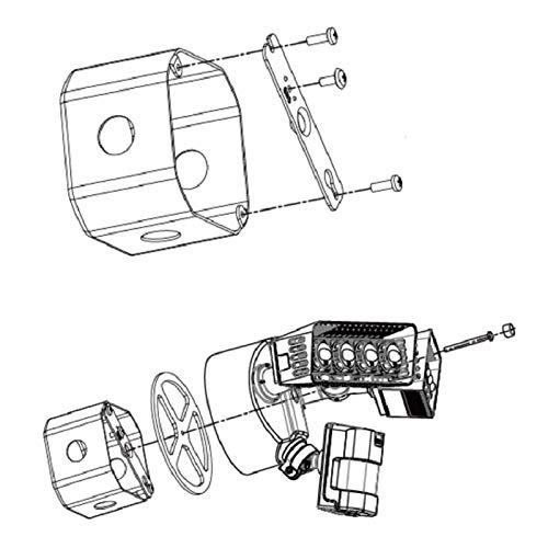Sansi Security Light Junction Box Installation Accessories 95mm