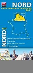 Nord,Carte Régionale Routière Touristique N°101. Plan du centre-ville de Lille - Echelle : 1/200 000, avec index - Edition 2012