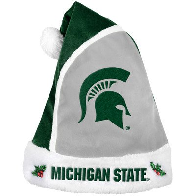 Michigan State Spartans Slippers (Michigan State 2015 Basic Santa Hat)