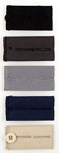 Home-X Easy Fit Buttons for Slacks, Waistband Extenders to Give You a More Relaxed Feel, 5 Color Set (1/2