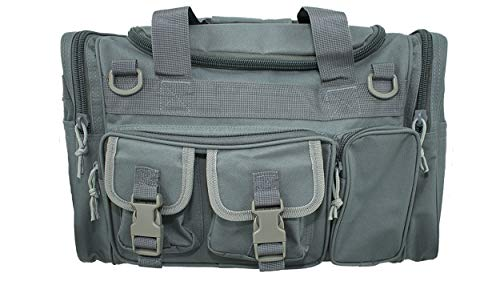 Osage River Tactical Duffel Bag Duffel Bag for Traveling, Camping, in The Field and at The Gym. (Gun Metal Grey Tactical Duffel Bag, 18 in. L x 12 in. W x 11 in. H) ()