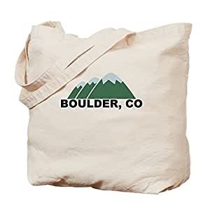 CafePress - Boulder, CO - Natural Canvas Tote Bag, Cloth Shopping Bag