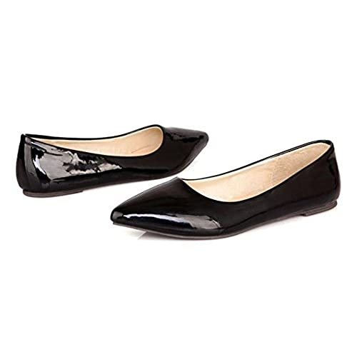 dbbaf2d3d3f11 CHFSO Women's Classic Solid Pointed Toe Low Top Slip On Low Heel ...