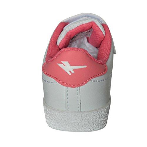 Gola Amhurst - Zapatos polideportivas al aire libre para niños blanco y rosa