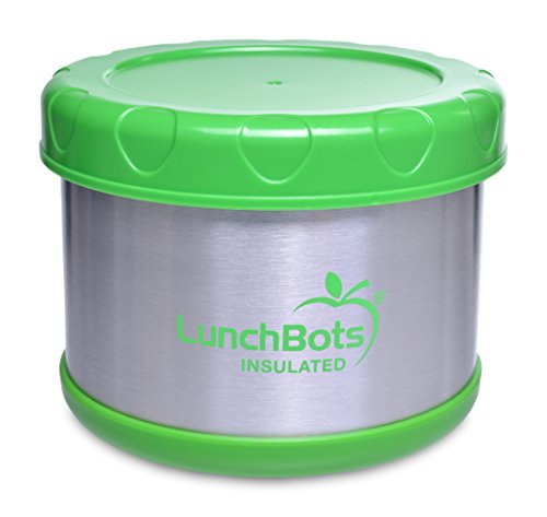 LunchBots Thermal 16-Ounce Insulated Food Jar, Green