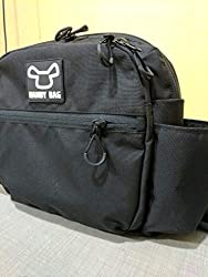 Side Bag From Handy Bag For Electric Wheelchairs Black Bag White Logo