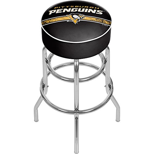 Nhl Swivel Bar Stools (Trademark Gameroom NHL Pittsburgh Penguins Chrome Bar Stool with)
