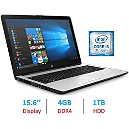 2019 HP 15.6″ BrightView Premium Laptop Computer HD WLED-Backlit Display, Intel Dual Core i3-7100U 2.4GHz Processor, 4GB DDR4 SDRAM, 1TB HDD, Bluetooth, HDMI, Webcam, 802.11 WiFi, Windows 10 (Renewed)