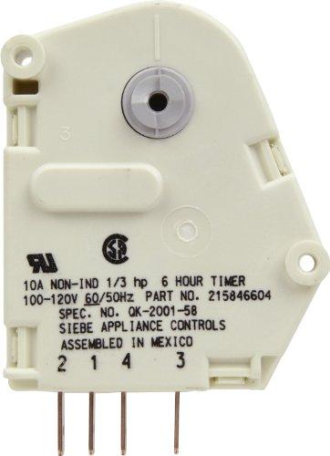 Refrigerator Defrost System (Frigidaire 215846604 Defrost Timer)